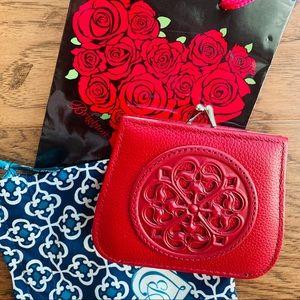 Brighton Red Ferrara French Kiss Wallet NWOT